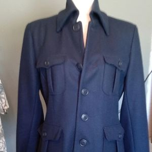 Lucky Brand wool blend military style jacket